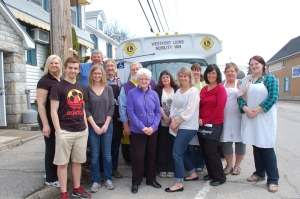 Some of the volunteers who pitched in for the annual breakfast for the Westport Lions Mobility Van Sunday, from left, Lisa Jackson, Josh Colford, Brooke Colford, Bryan Colford, Rick Smith, Lion John Rempel, Pat McGregor, Faye Irwin, Tracy Colford, Tracy Ferguson, Maureen Price, Joanne Edwards and Emily Brown.