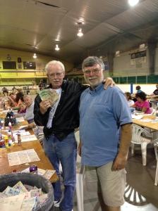 Lion Wayne Bent presents John Norwood with $1,500